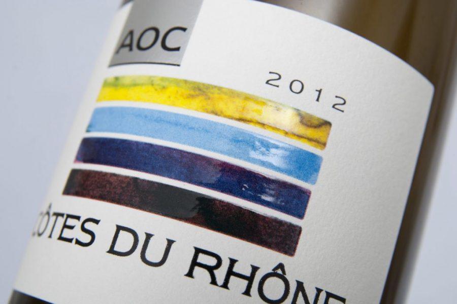 Impression étiquette bande couleur vins AOC