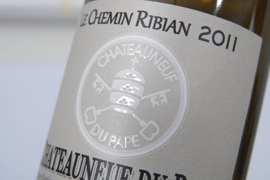 Impression étiquettes relief blanc vins