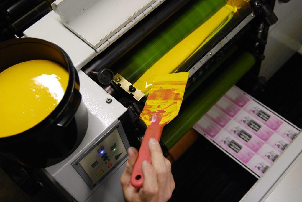 Impression d'étiquettes par couleur