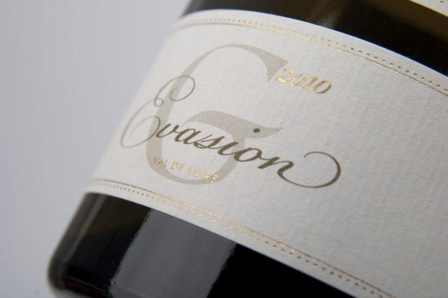 Impression étiquettes de vin avec dorure