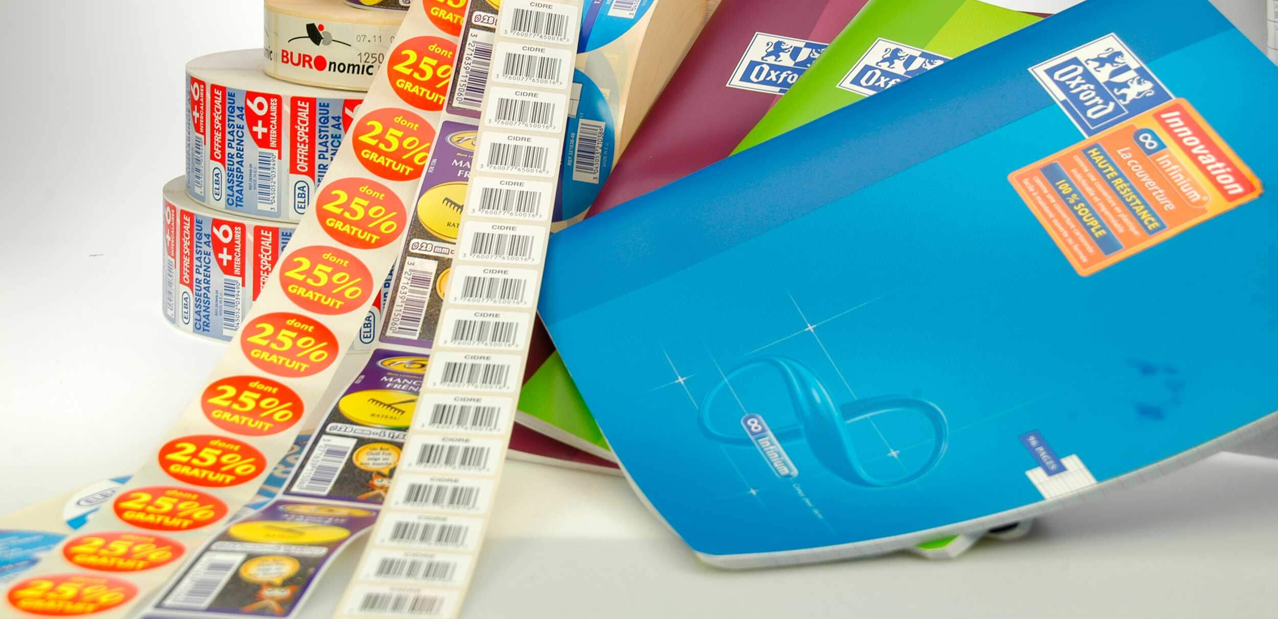 Impression d'étiquettes adhésives personnalisées